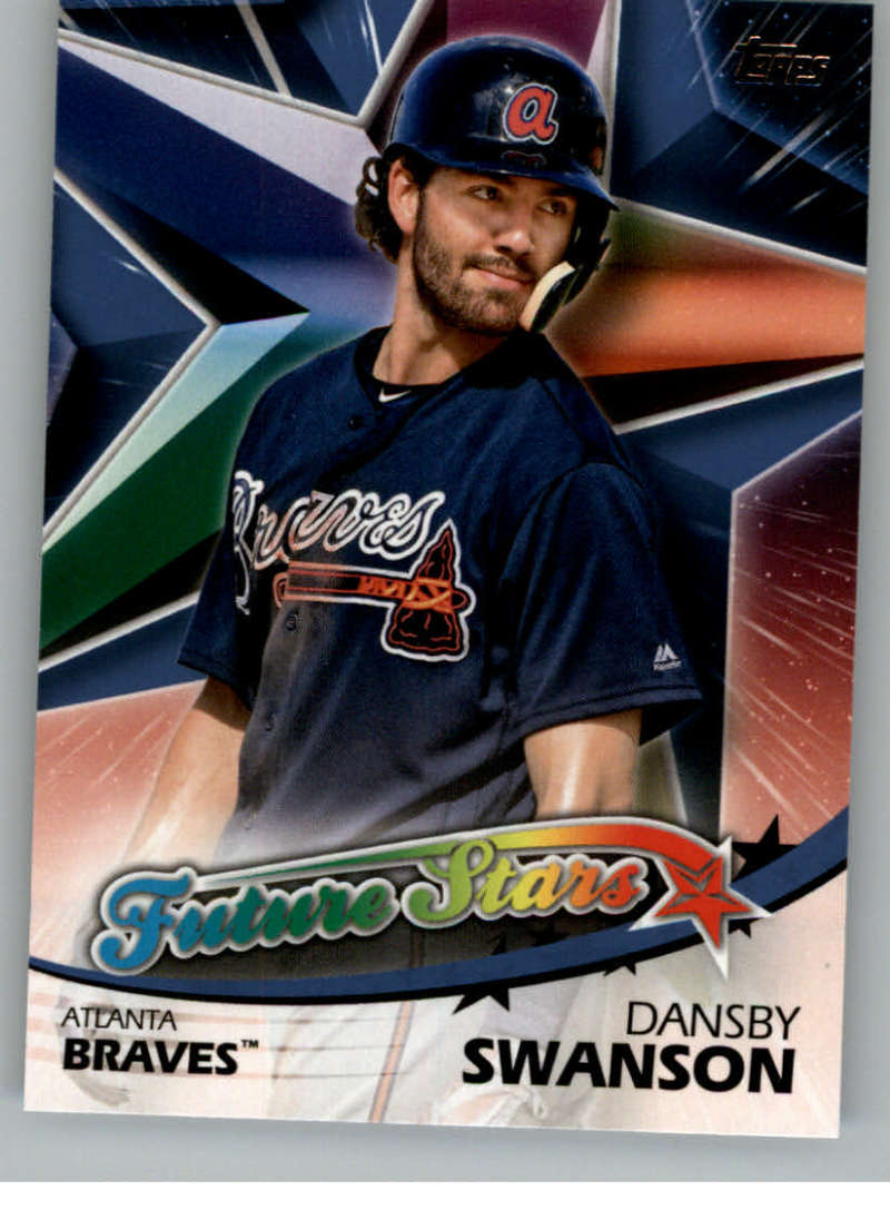 2018 Topps Series Two Future Stars Blue #FS-28 Dansby Swanson Atlanta Braves