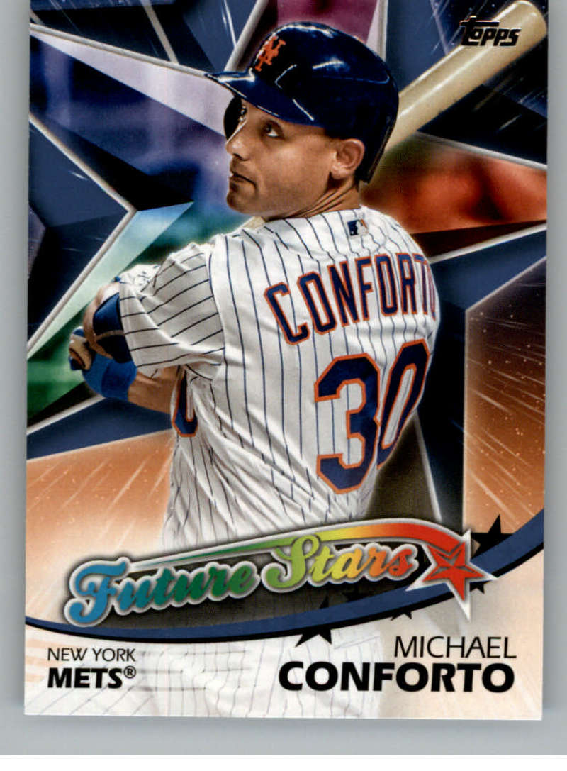 2018 Topps Series Two Future Stars Blue #FS-32 Michael Conforto New York Mets