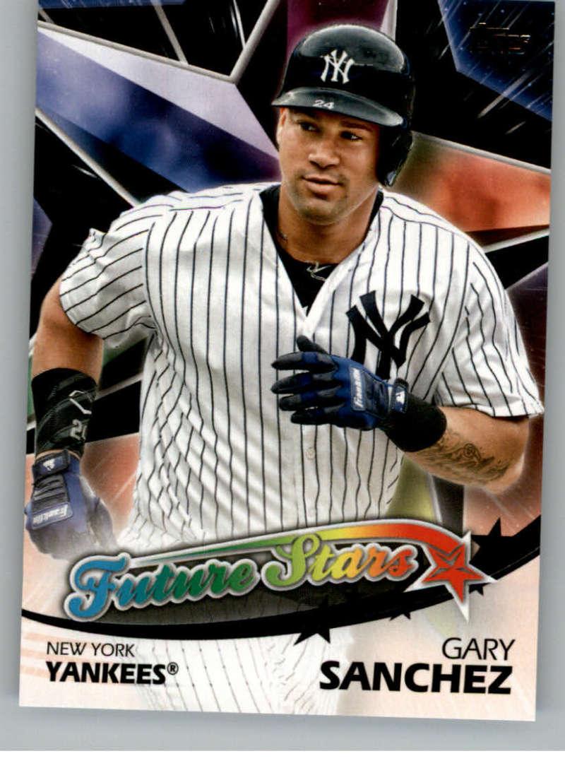 2018 Topps Series Two Future Stars Black #FS-30 Gary Sanchez New York Yankees
