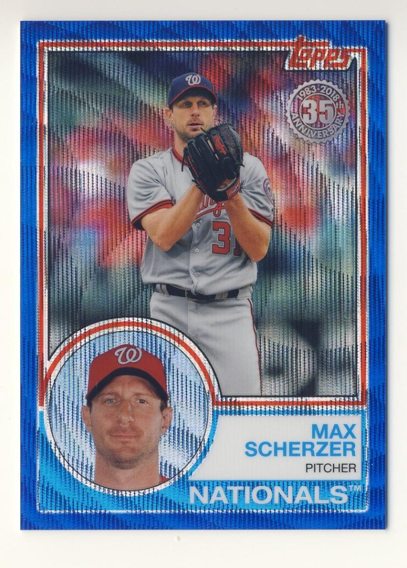 2018 Topps Topps 83 Chrome Silver Promo Series 2 Blue Wave