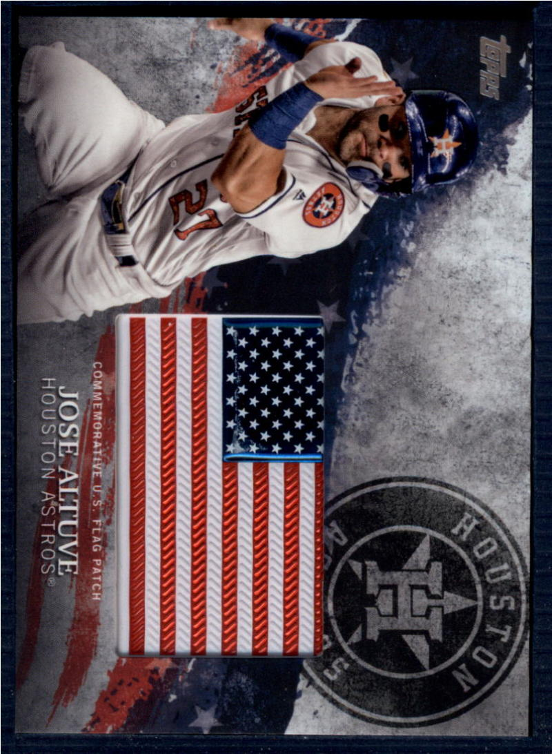 2018 Topps  MLB Independence Day U.S. Flag Manufactured Patches