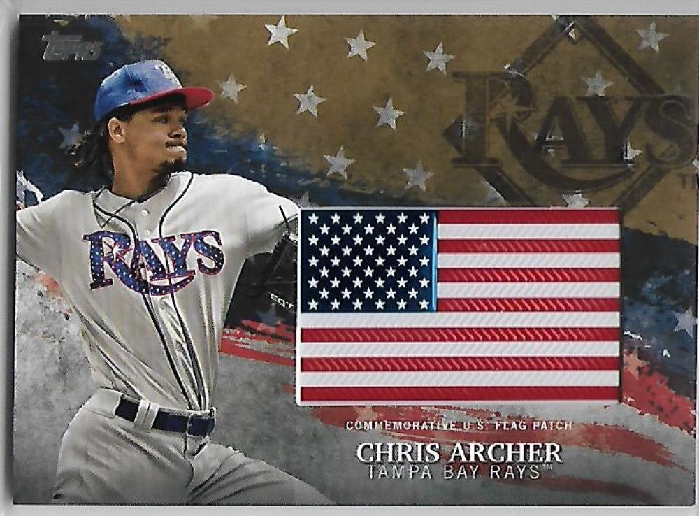 2018 Topps  MLB Independence Day U.S. Flag Manufactured Patches Gold