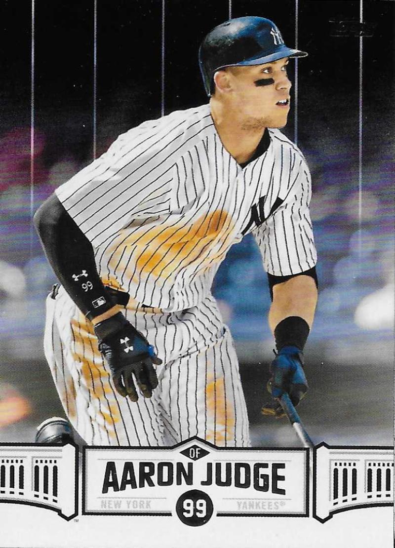 bf38d612c 2018 Topps Aaron Judge Highlights Black Baseball Checklist ...