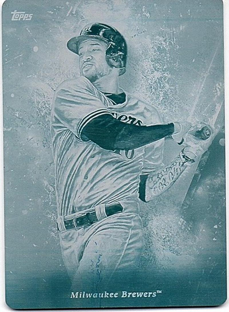 2018 Topps Inception Printing Plates Cyan