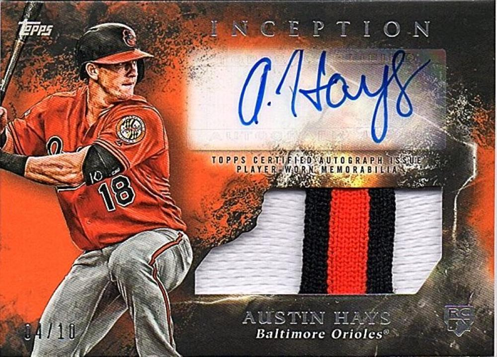 2018 Topps Inception Autographed Patch Relics Orange
