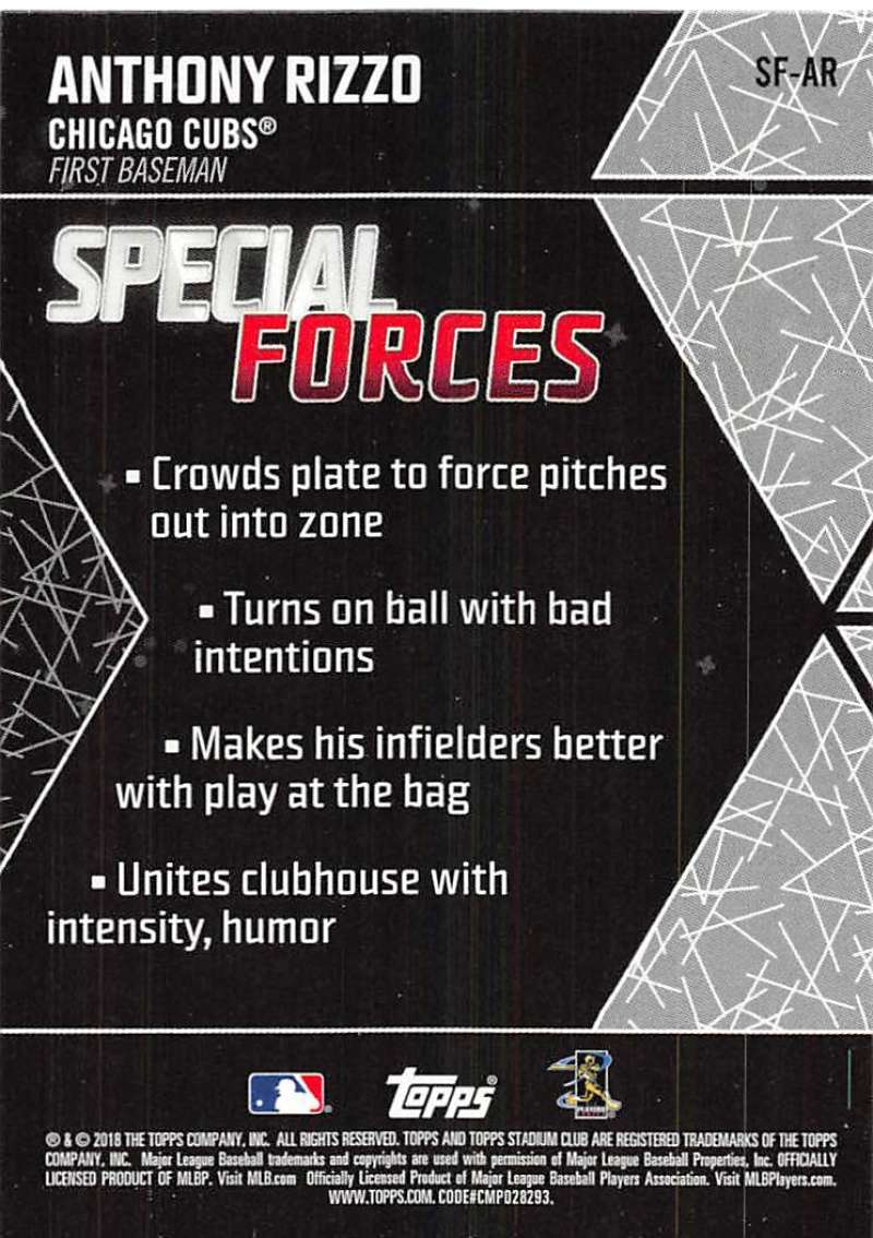 2018 TOPPS STADIUM CLUB SPECIALS FORCES SINGLES-$1.49-$5.99 COMPLETE YOUR SET
