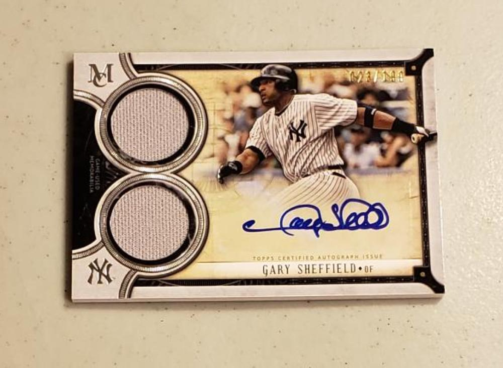 2018 Topps Museum Signature Swatches Dual Relic Autographs