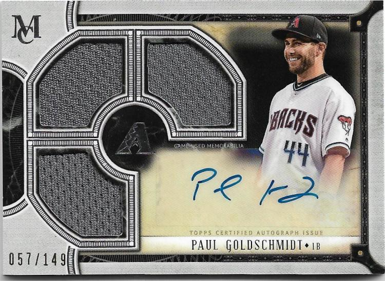 2018 Topps Museum Signature Swatches Triple Relic Autographs