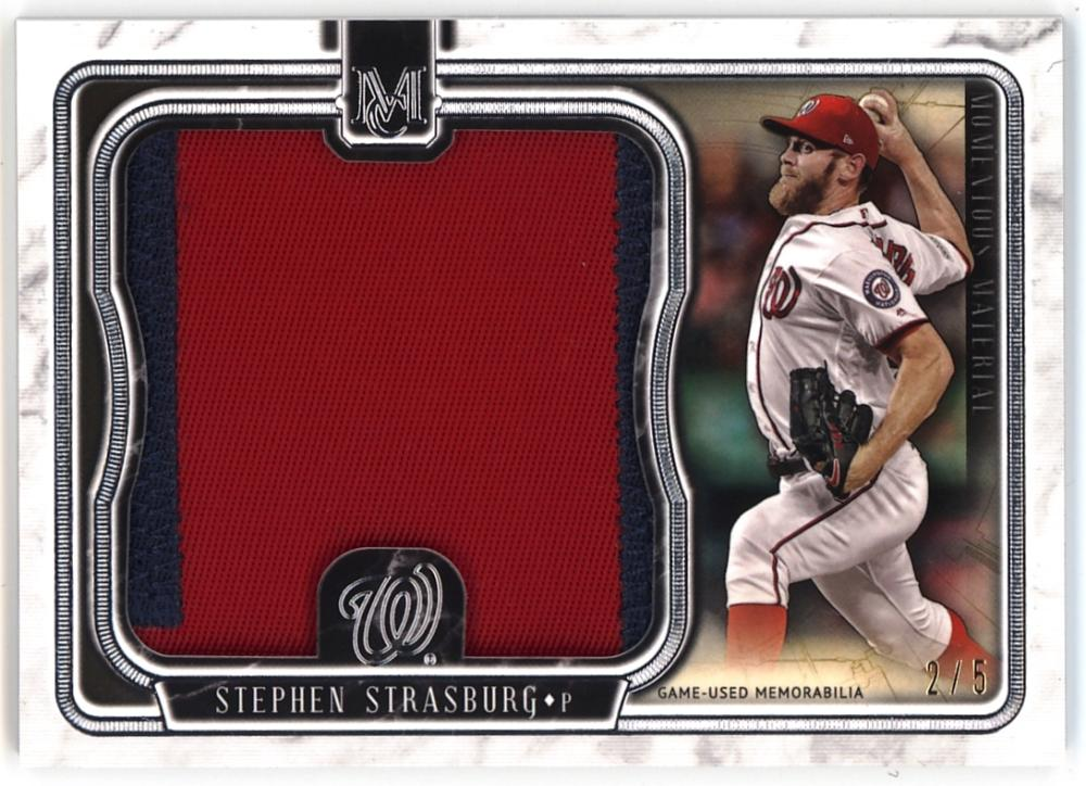 2018 Topps Museum Momentous Material Jumbo Patch Relics