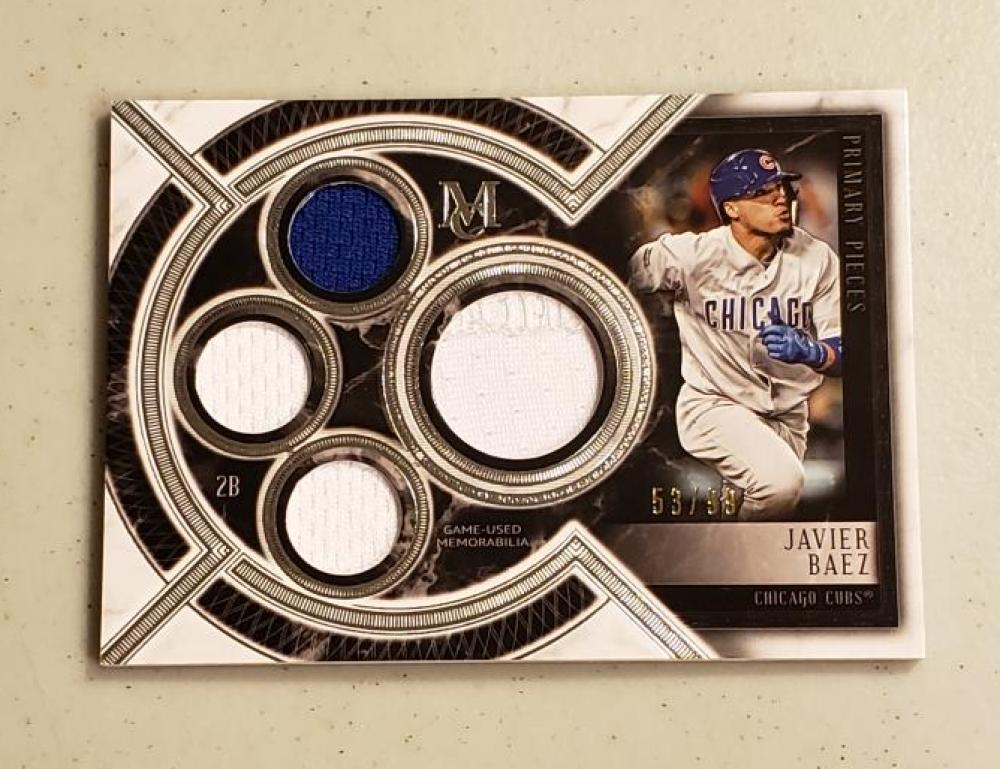 2018 Topps Museum Primary Pieces Quad Relics Single Player