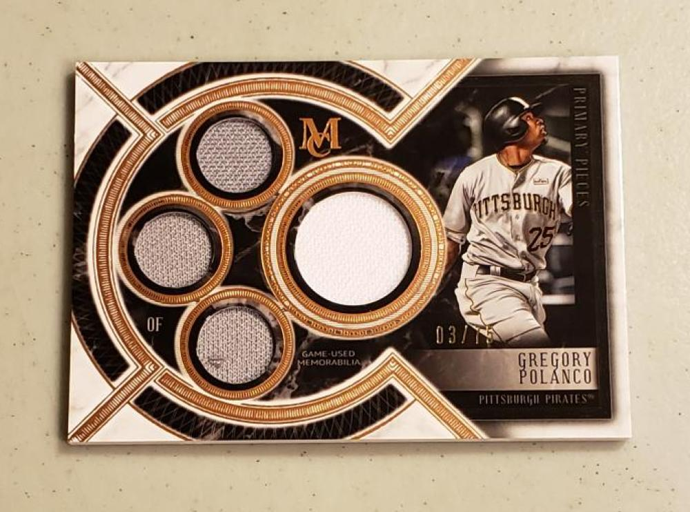 2018 Topps Museum Primary Pieces Quad Relics Single Player Copper