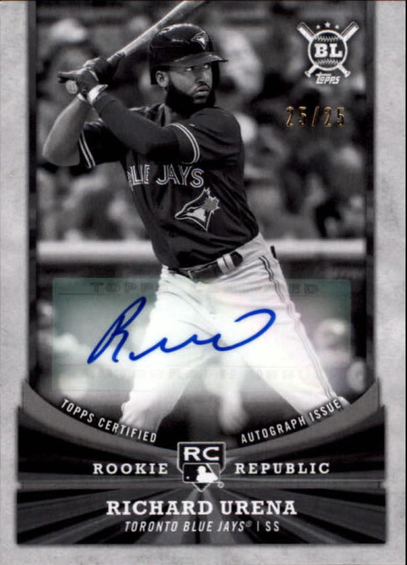 2018 Topps Big League Rookie Republic Autographs Black and White