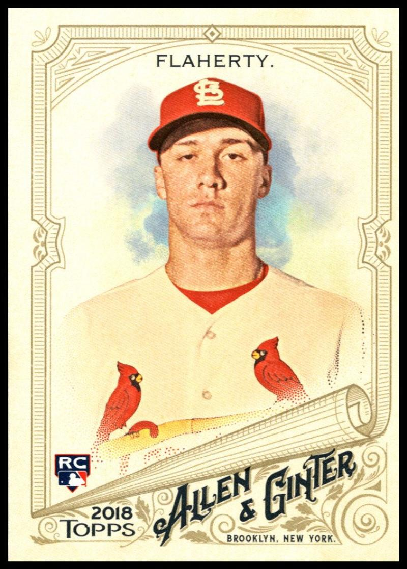 2018 Topps Allen and Ginter Baseball #28 Jack Flaherty RC Rookie Card St. Louis Cardinals Official MLB Trading Card