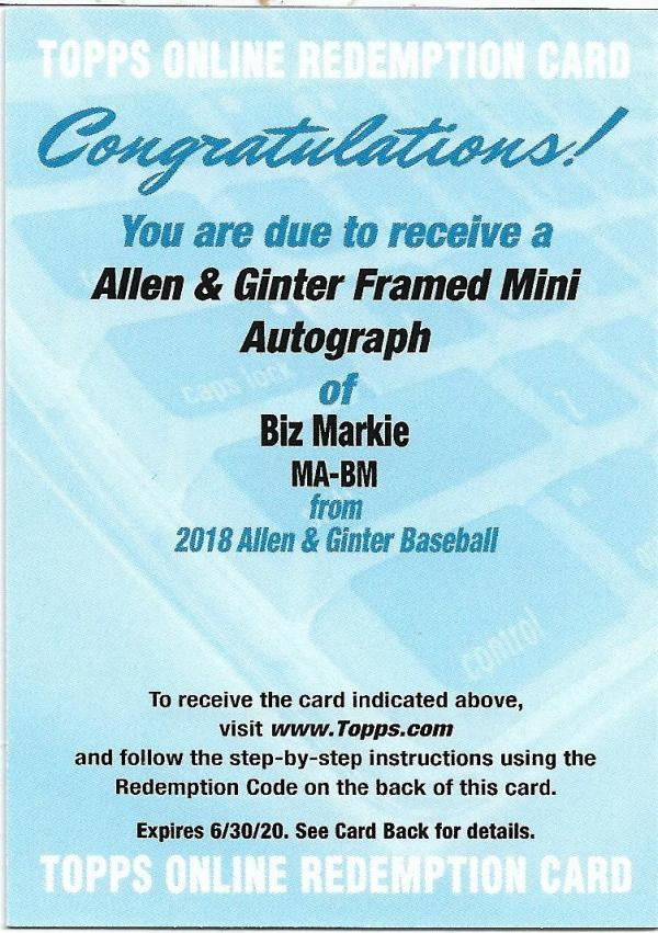 2018 Allen and Ginter  Framed Mini Non-Baseball Autographs
