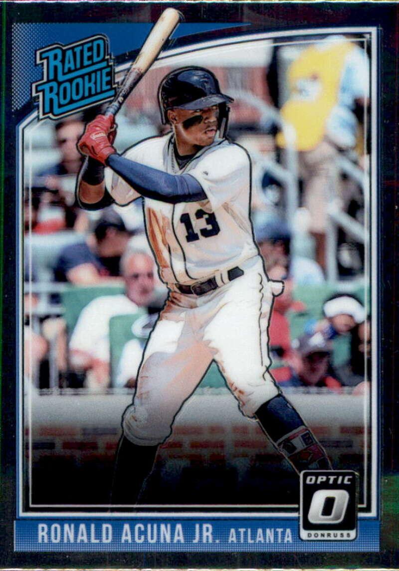 2018 Donruss Optic Baseball #63 Ronald Acuna Jr. Atlanta Braves Rated Rookie RC Card