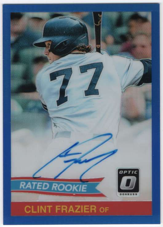 2018 Donruss Optic Rated Rookie Retro 1984 Signatures Blue