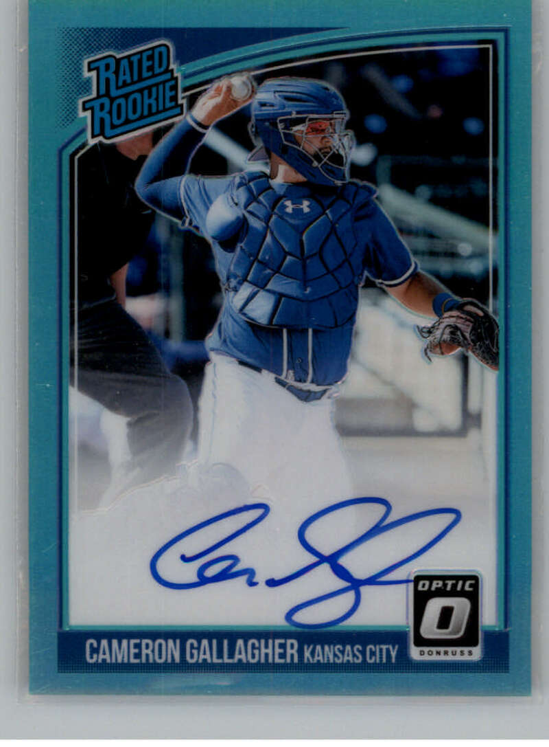 2018 Donruss Optic Rated Rookies Signatures Aqua