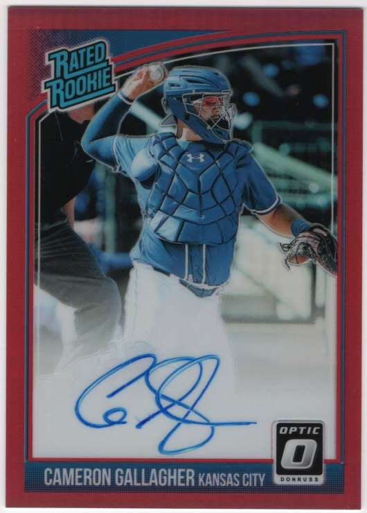 2018 Donruss Optic Rated Rookies Signatures Red