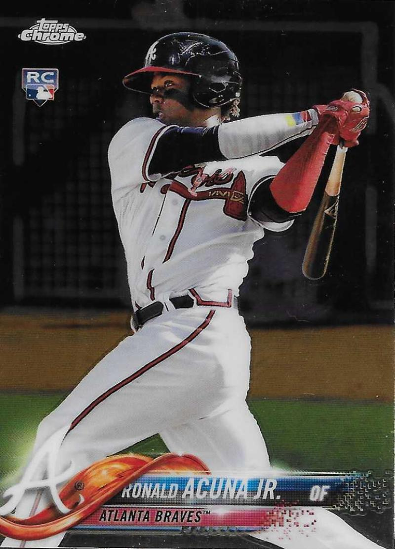 2018 Topps Chrome #193 Ronald Acuna Jr. NM-MT RC Rookie