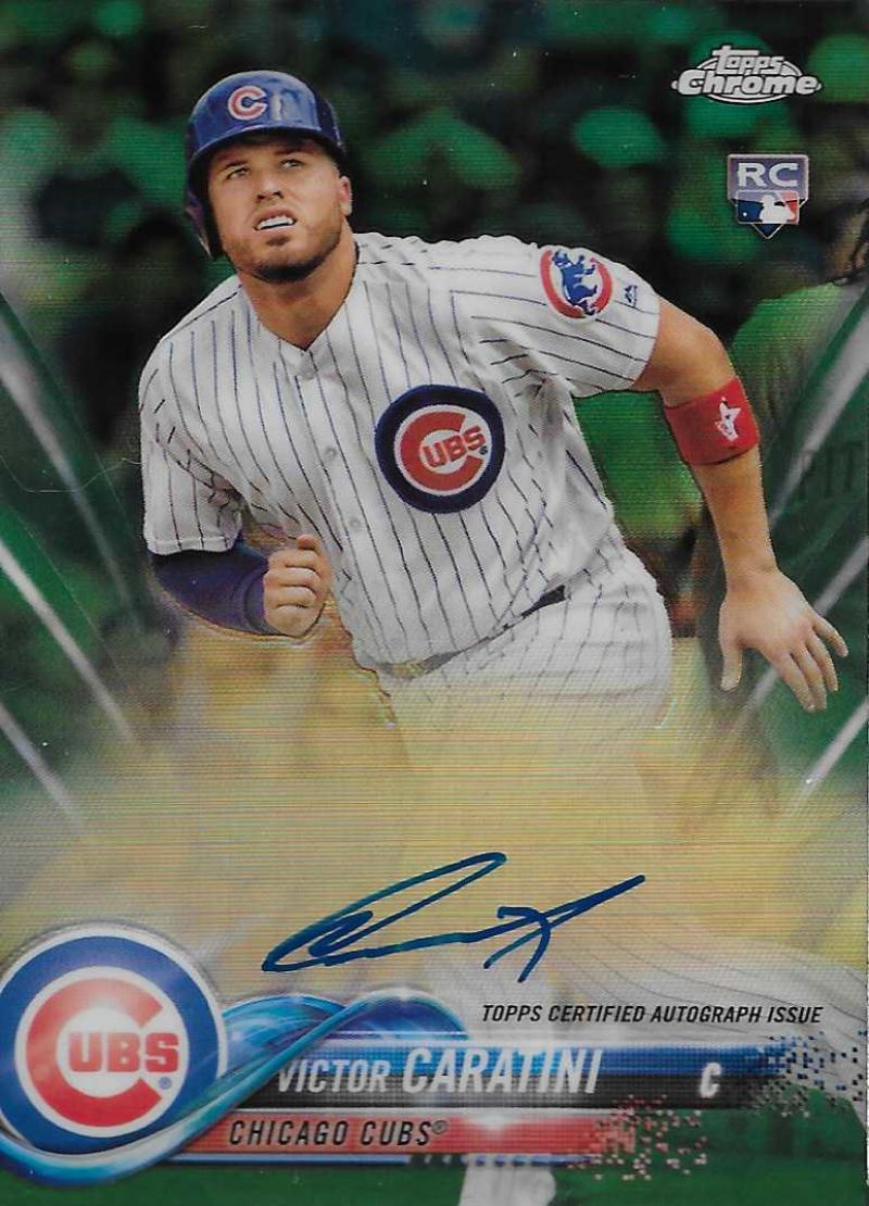 2018 Topps Chrome Rookie Autographs Refractors Green