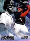 2018 Topps Chrome Baseball Superstar Sensations Refractor #SS-4 Bryce Harper Washington Nationals