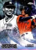 2018 Topps Chrome Baseball Superstar Sensations Refractor #SS-12 Carlos Correa Houston Astros