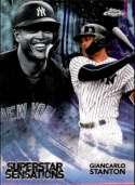 2018 Topps Chrome Baseball Superstar Sensations Refractor #SS-13 Giancarlo Stanton New York Yankees