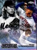 2018 Topps Chrome Baseball Superstar Sensations Refractor #SS-14 Noah Syndergaard New York Mets