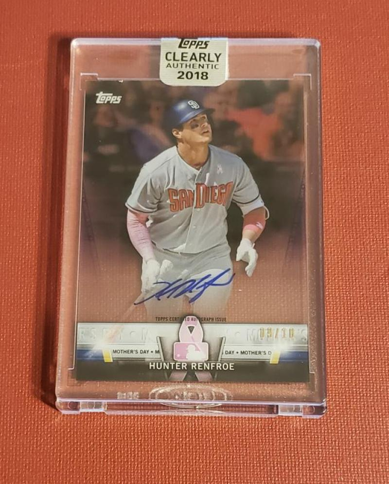 2018 Topps Clearly Authentic Salute Autographs Purple