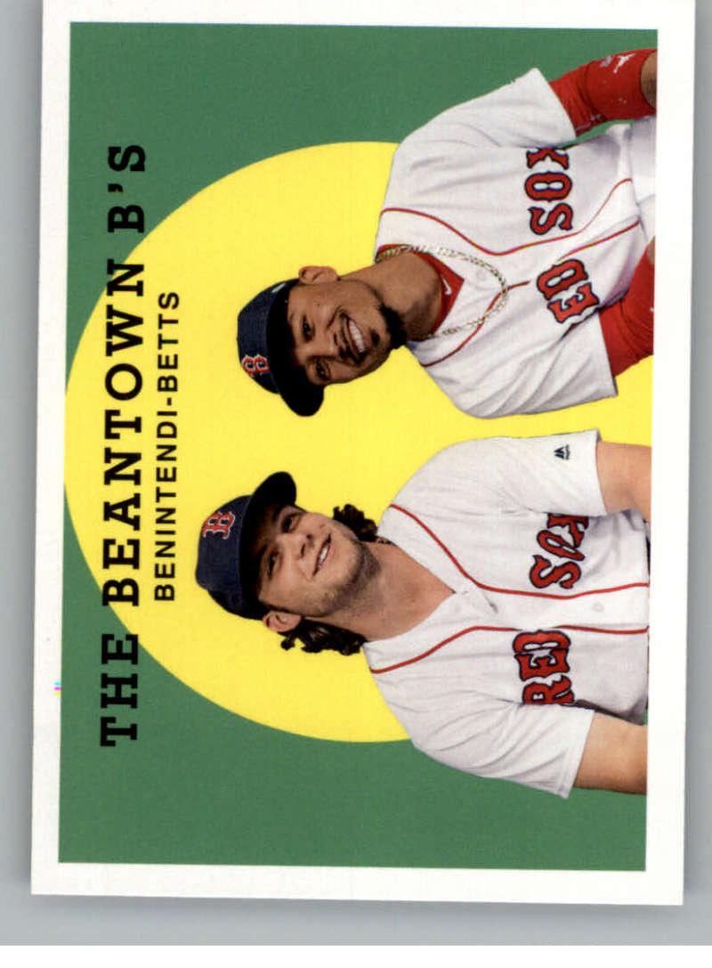 2018 Topps Archives Baseball #301 Andrew Benintendi/Mookie Betts Boston Red Sox Rare Short Print SP