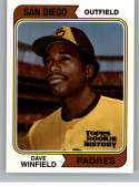 2018 Topps Archives Baseball Rookie History #NNO Dave Winfield San Diego Padres