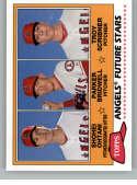 2018 Topps Archives Baseball 1981 Topps Future Stars Trios #FS-LAA Parker Bridwell/Troy Scribner/Shohei Ohtani Los Angel