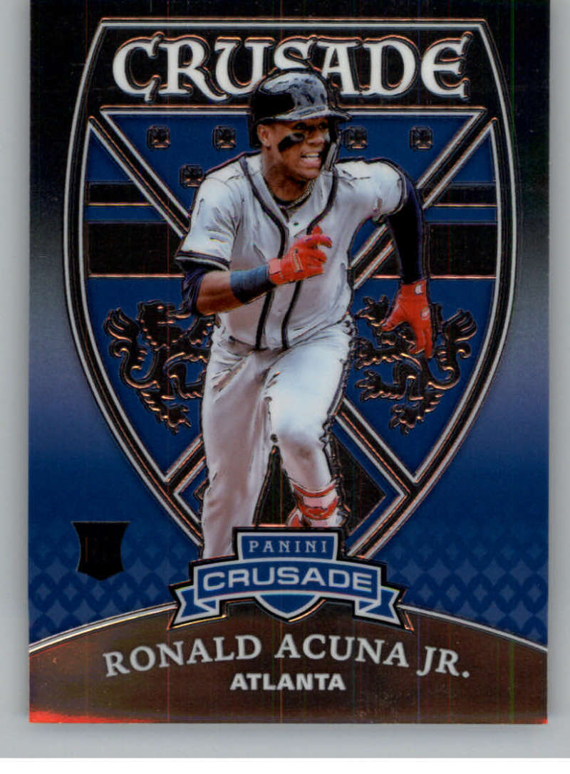 2018 Panini Chronicles Crusade #18 Ronald Acuna Jr. NM Near Mint