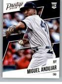2018 Panini Chronicles Prestige #7 Miguel Andujar New York Yankees RC Rookie Card