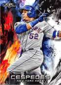 2018 Topps Fire #195 Yoenis Cespedes NM-MT New York Mets