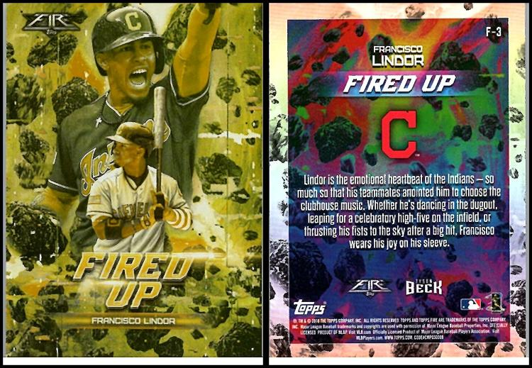 2018 Topps Fire Fired Up Gold Mint