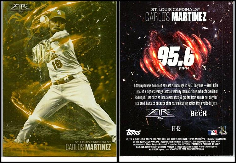 2018 Topps Fire Flamethrowers Gold Mint