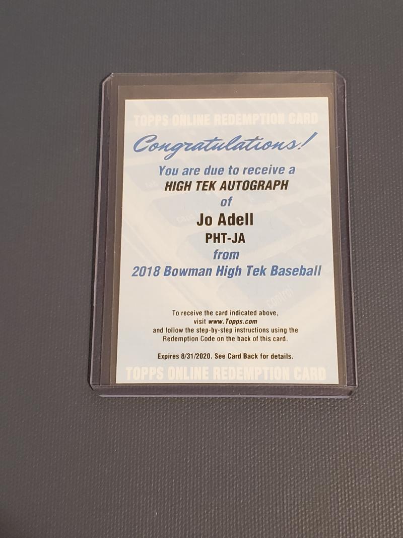 2018 Bowman High Tek Prospect Autographs