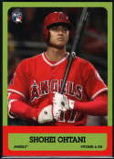 2018 Topps Throwback Thursday 1963 Football Design #179 Shohei Ohtani RC Rookie Los Angeles Angels  Official MLB Trading Card Sold Out at Topps Print