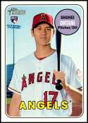 2018 Topps Heritage High Number #600 Shohei Ohtani RC Rookie Los Angeles Angels