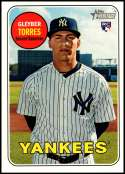 2018 Topps Heritage High Number Baseball #603 Gleyber Torres RC Rookie New York Yankees  Official MLB Trading Card