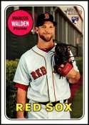 2018 Topps Heritage High Number #605 Marcus Walden NM-MT RC Rookie Boston Red Sox
