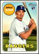 2018 Topps Heritage High Number #611 Ronald Guzman NM-MT RC Rookie Texas Rangers