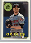 2018 Topps Heritage High Number #723 Alex Cobb NM-MT SP Baltimore Orioles