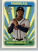 2018 Topps Heritage High Number Rookie Performers Baseball #RP-RA Ronald Acuna Jr. Atlanta Braves  RC Official MLB Trading Card