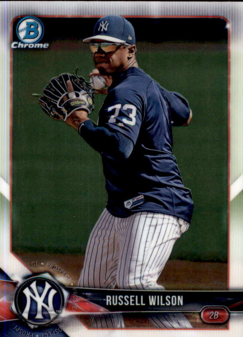 2018 Bowman Chrome Prospects Baseball #BCP151 Russell Wilson New York Yankees  Official Trading Card