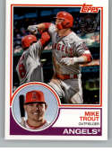 2018 Topps Update and Highlights Baseball Series 1983 Topps 35th #83-42 Mike Trout Los Angeles Angels  Official MLB Trading Card