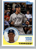 2018 Topps Update and Highlights Baseball Series 1983 Topps 35th #83-43 Aaron Judge New York Yankees  Official MLB Trading Card