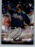 2018 Topps Update Salute #S-21 Ronald Acuna Jr. Atlanta Braves Official MLB Baseball Trading Card