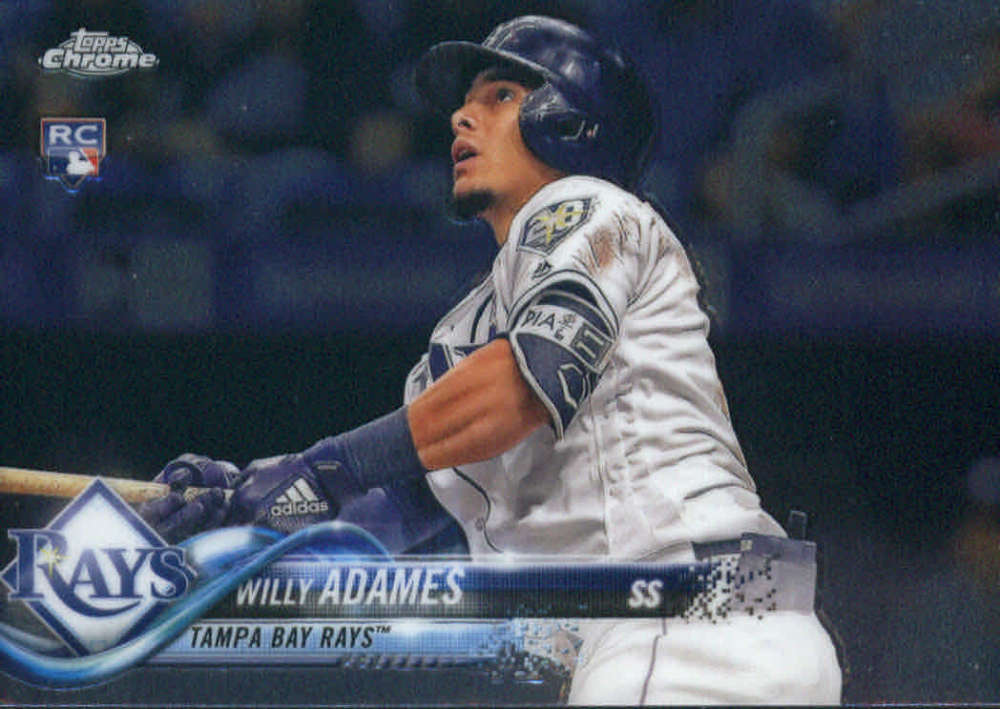 2018 Topps Chrome Update #HMT56 Willy Adames NM-MT RC Rookie Tampa Bay Rays